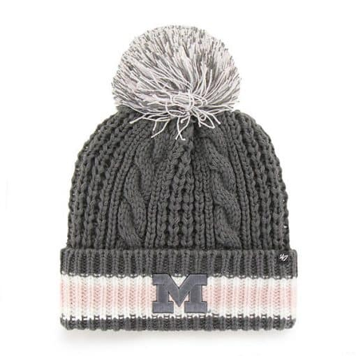 Michigan Wolverines Women's 47 Brand Charcoal Sorority Cuff Knit Hat
