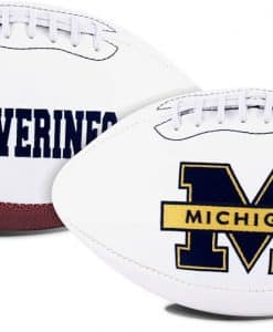 Michigan Wolverines Full Size Embroidered Signature Football