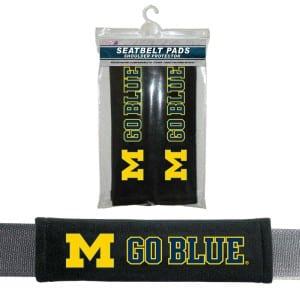 Michigan Wolverines Velour Seat Belt Pads