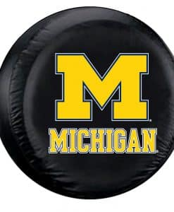Michigan Wolverines NCAA Black Tire Cover - Standard Size