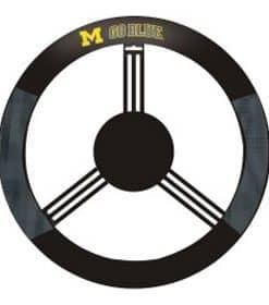 Michigan Wolverines Mesh Black Steering Wheel Cover
