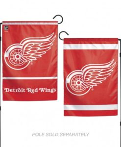 Detroit Red Wings Flag 12x18 Garden Style 2 Sided