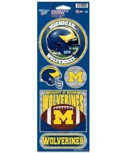 Michigan Wolverines Prismatic Stickers