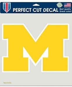"""Michigan Wolverines Perfect Cut Decal - 8""""x8"""" Color"""