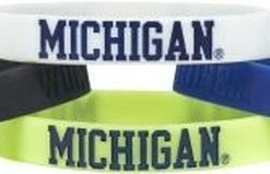 Michigan Wolverines Bracelets 4 Pack Silicone