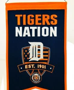 Detroit Tigers MLB Wool Nations Banner