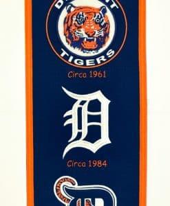 Detroit Tigers MLB Wool 8″x32″ Heritage Banner