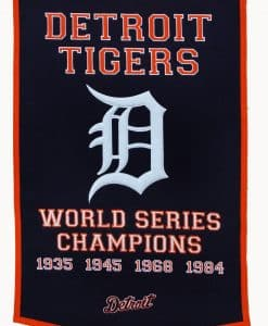Detroit Tigers MLB 24″x36″ Wool Dynasty Banner