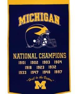 Michigan Wolverines NCAA 24″x36″ Dynasty Wool Banner