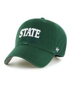 Michigan State Spartans 47 Brand Script Dark Green Clean Up Adjustable Hat