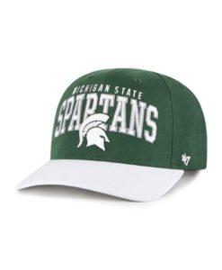 Michigan State Spartans 47 Brand Mccaw Dark Green White Adjustable Hat