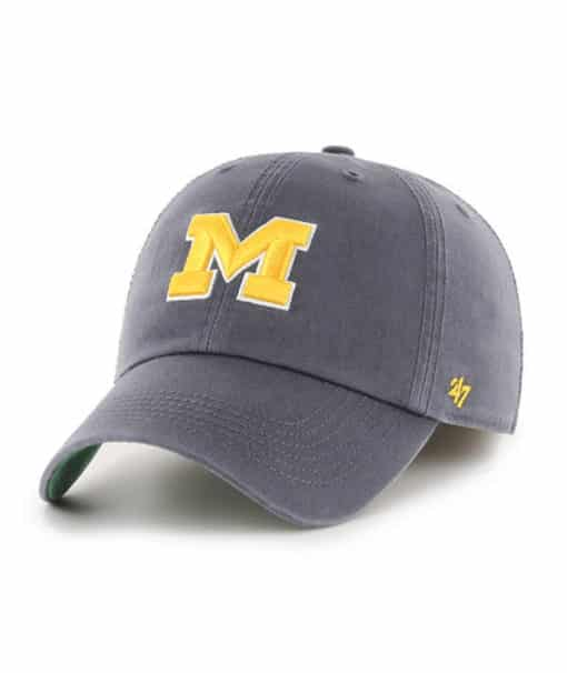 Michigan Wolverines 47 Brand Vintage Navy Franchise Fitted Hat