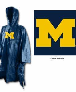 Michigan Wolverines Hooded Rain Poncho