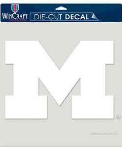 "Michigan Wolverines NCAA Die-Cut Decal - 8""x8"" White"