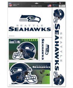 """Seattle Seahawks 11""""x17"""" Ultra Decal Sheet"""