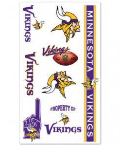 Minnesota Vikings Temporary Tattoos