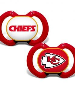 Kansas City Chiefs Red Baby Pacifier 2 Pack