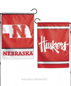 Nebraska Cornhuskers Flag 12x18 Garden Style 2 Sided