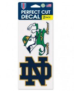 Notre Dame Fighting Irish Set of 2 Die Cut Decals