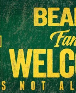 Baylor Bears Wood Sign Fans Welcome 12″x6″