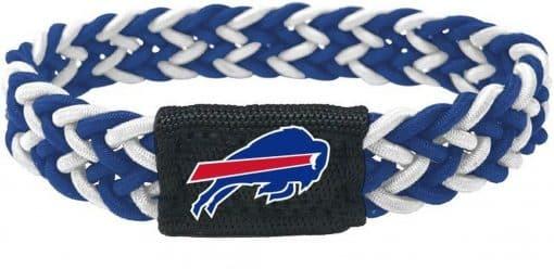 Buffalo Bills Blue & White Braided Bracelet