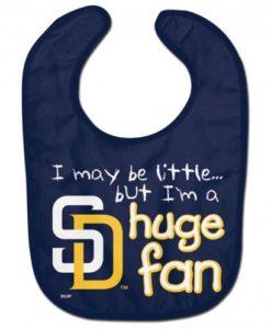 San Diego Padres Huge Fan Navy Baby Bib