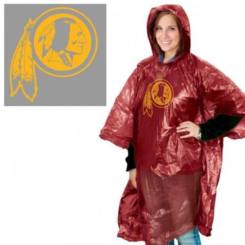 Washington Redskins Hooded Rain Poncho