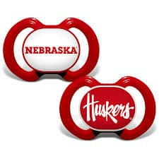 Nebraska Cornhuskers Pacifier 2 Pack