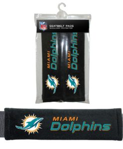Miami Dolphins Velour Seat Belt Pads