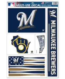 """Milwaukee Brewers 11""""x17"""" Ultra Decal Sheet"""