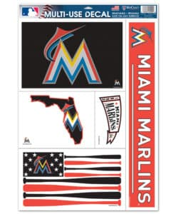 "Miami Marlins 11""x17"" Ultra Decal Set"