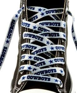 """Dallas Cowboys Shoe Laces - 54"""" Silver"""