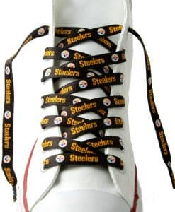 Pittsburgh Steelers Shoe Laces Black