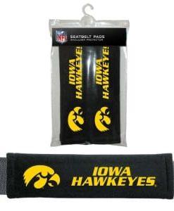 Iowa Hawkeyes Velour Seat Belt Pads