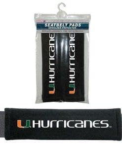 Miami Hurricanes Velour Seat Belt Pads