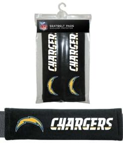 Los Angeles Chargers Velour Seat Belt Pads