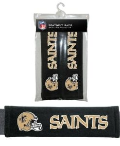 New Orleans Saints Velour Seat Belt Pads