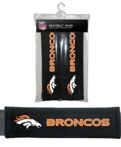 Denver Broncos Velour Seat Belt Pads