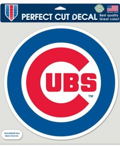 "Chicago Cubs Die-Cut Decal - 8""x8"" Color Round"