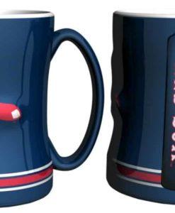 Boston Red Sox Coffee Mug - 14oz Sculpted, Blue