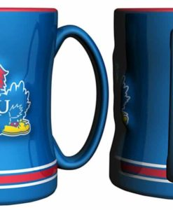 Kansas Jayhawks Coffee Mug - 14oz Sculpted
