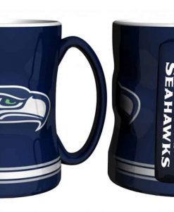 Seattle Seahawks Coffee Mug - 14oz Sculpted