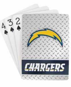 Los Angeles Chargers Playing Cards - Diamond Plate