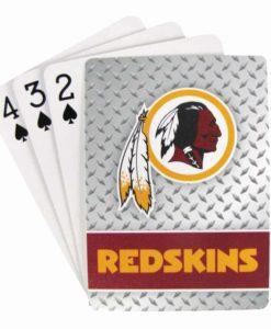 Washington Redskins Playing Cards - Diamond Plate
