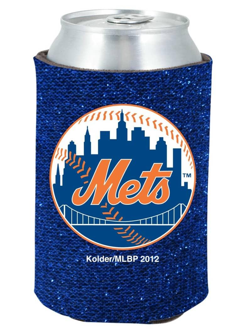 New York Mets Blue Kolder Kaddy Can Holder - Glitter