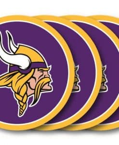 Minnesota Vikings Coaster Set - 4 Pack