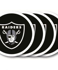 Las Vegas Raiders Coaster Set - 4 Pack