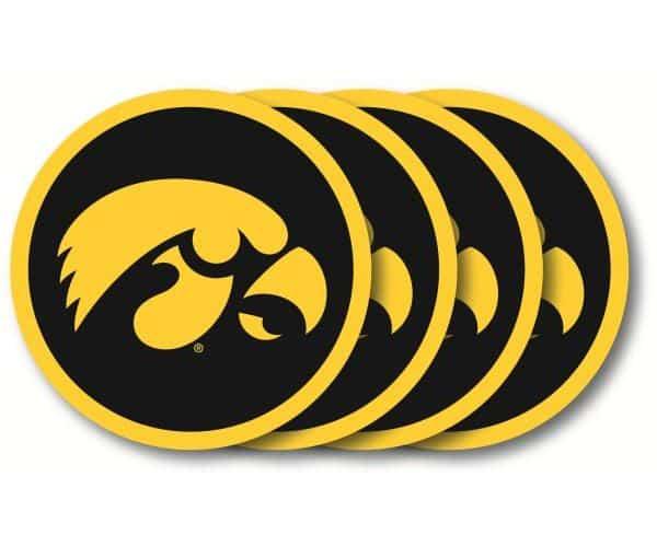 Iowa Hawkeyes Coaster Set - 4 Pack