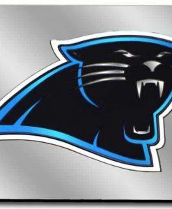 Carolina Panthers License Plate Laser Cut Silver