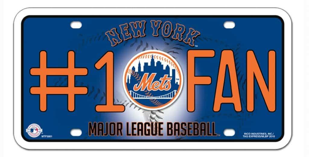 New York Mets License Plate - #1 Fan